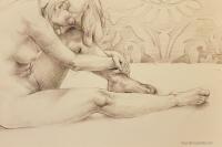 Courtney Larsen- crouched figure study