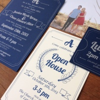 Allens wedding invite close up